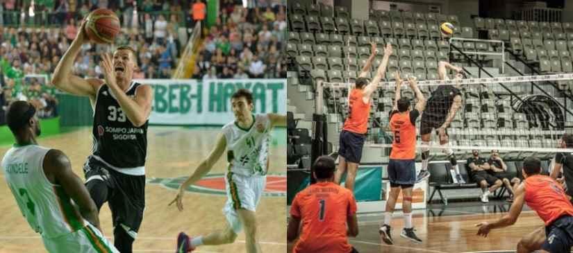Basketbol ve Erkek Voleybol Takımlarımıza Destek
